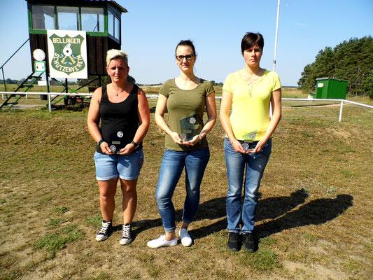 von links nach rechts: Birgit Pankau 2.Platz, Alexandra Kühn 1.Platz und Silke Greiff 3.Platz