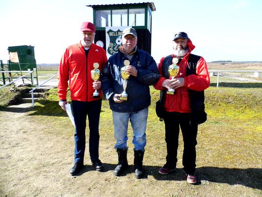 von links nach rechts: Werner Fröhlich 2.Platz, Frank Hoellge 1.Platz und Ulrich Tietz 3.Platz