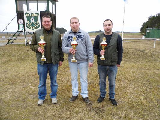 von links nach rechts: Pierre Podein 2.Platz, Michael Lehmann 1.Platz und Sandro Schaffranke 3.Platz