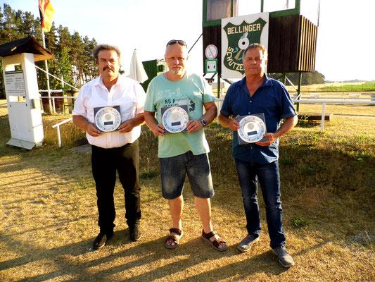 von links nach rechts: Frank Hügelow, Roberto Greiff und Udo Schön