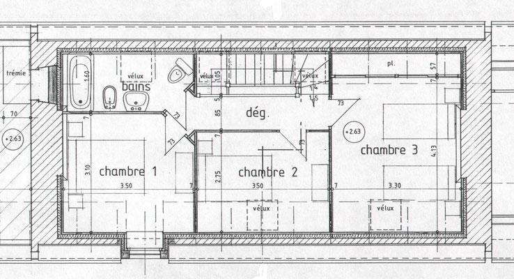 plan de l'étage, © Francis Le Bras