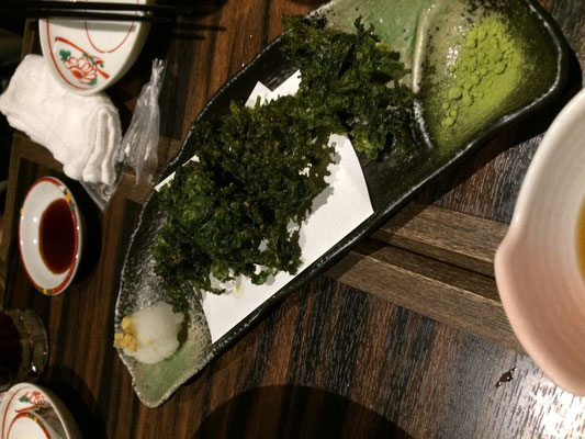 あおさノリの天ぷら