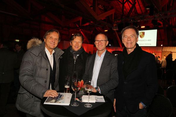 Foto: Konrad Lagger. Auf dem Bild: Herbert Gaar (Boss Moden), Dr. Helmut Eggert (Porsche Austria), Johannes Santner und Rudolf Hermann (Flughafen Salzburg)