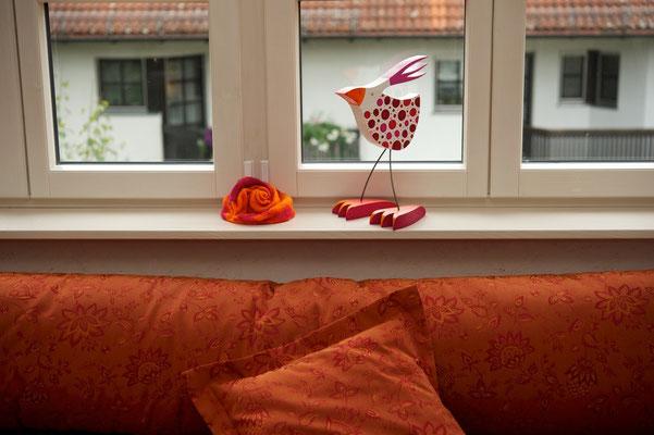 Fridolin, kleiner Vogel im neuen Zuhause