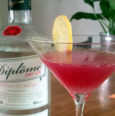 Pink Lady cocktail with Diplome Dry Gin