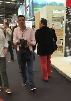 Red pants walking