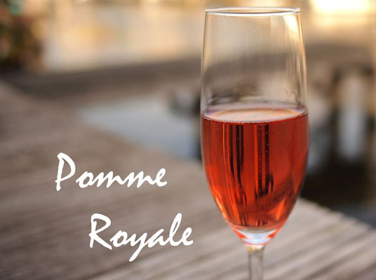 Pomme Royale with Roger Groult Calvados 8 Year and Jahiot Creme de Framboise
