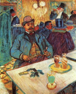 Monsieur Boileau au café (1893) - Henri de Toulouse-Lautrec