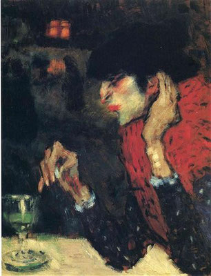 The Absinthe Drinker (1901) - Pablo Picasso