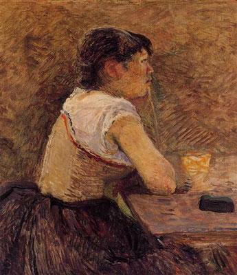 At Gennelle, Absinthe Drinker (1886) - Henri de Toulouse-Lautrec