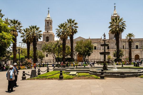 Kathedrale, Plaza de Armas, Arequipa, Nov. 2019