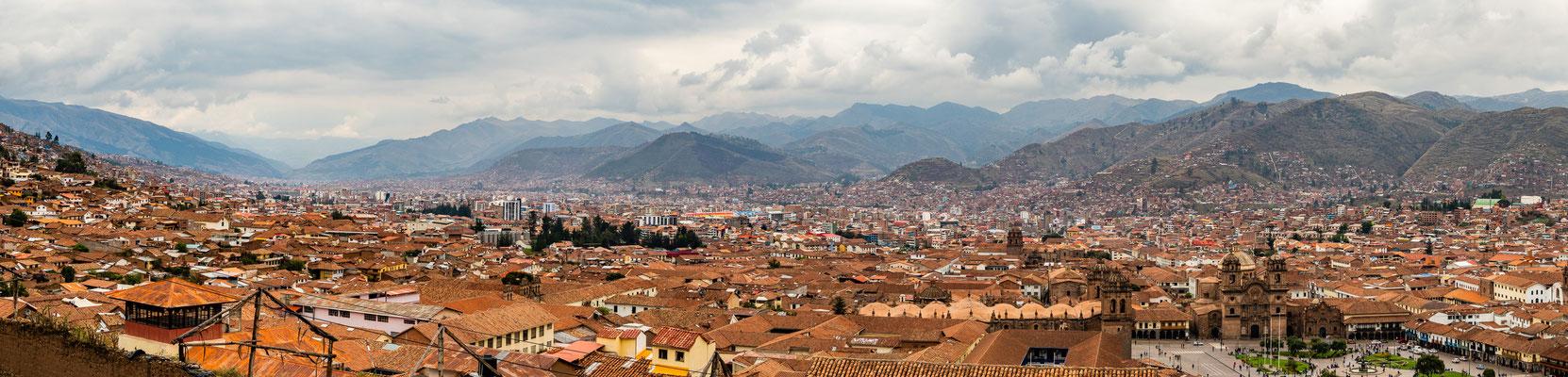 12. Nov.   Cusco: Panorama vom Mirador San Cristobal