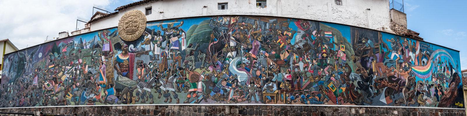 Avenida del Sol (Wandmalerei von Juan Bravo), Cusco, Nov. 2019