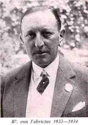 W. von Fabricius 1933-1934 - Präsident FRFC