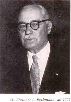 M. Freiherr von Bethmann, ab 1952 - Präsident FRFC