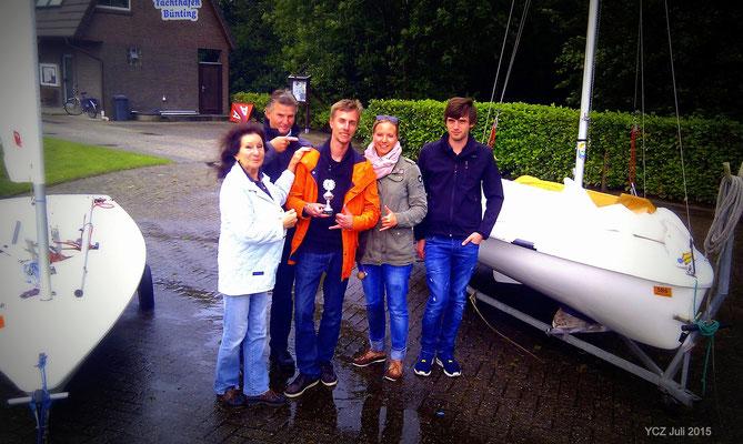 YCZ-Vereinsmeister/Offene Regatta 25./26.Juli 2015 Christoph Albers auf Laser Standart (Oldenburg)