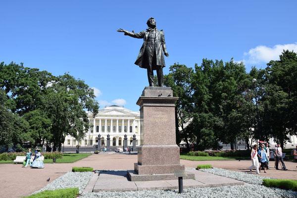 Denkmal Puschkin vor dem russischen Museum