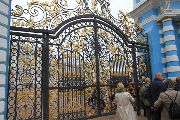 Der Eingangsbereich in Zarskoje Selo. Puschkin
