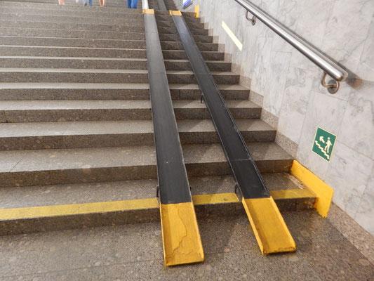 Treppenhilfe für Gepäck