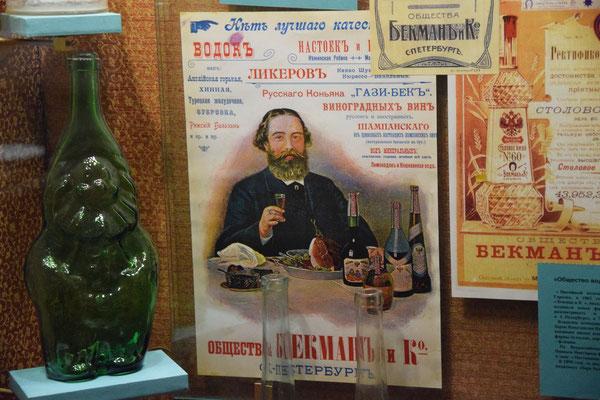 Plakat im Wodkamuseum
