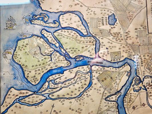 historische Landkarte von Sankt Petersburg