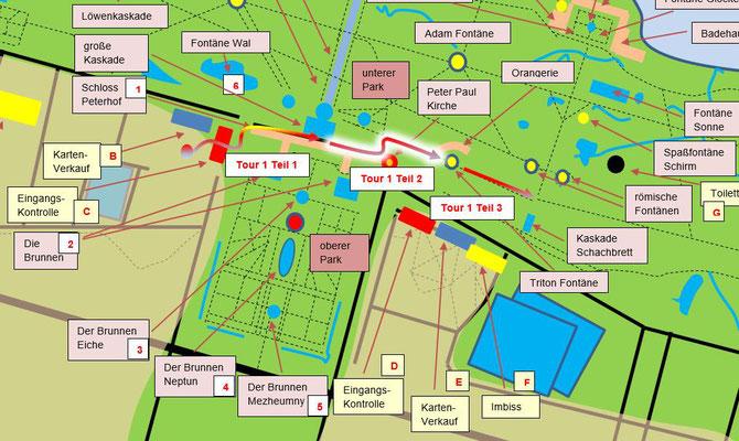 Schema Peterhofer Parks Teilstrecke 3