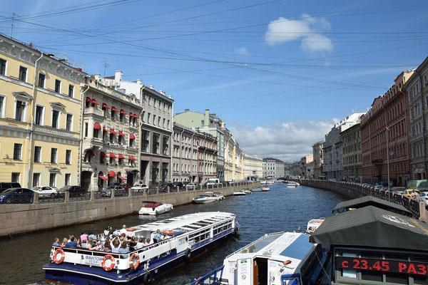 Bootsfahrt in Sankt Petersburg