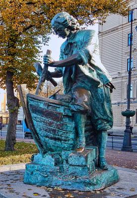 Denkmal an Peter den Großen bei der Admiralität