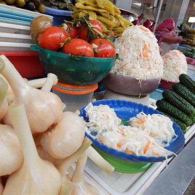 Angebot auf dem Bauernmarkt
