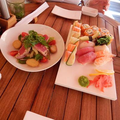 Speisen im Japanischen Restaurant