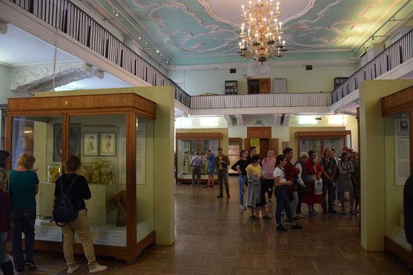 Ausstellungsräume der Sammlung von Peter dem Großen