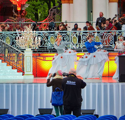 Bühne auf dem Palastplatz