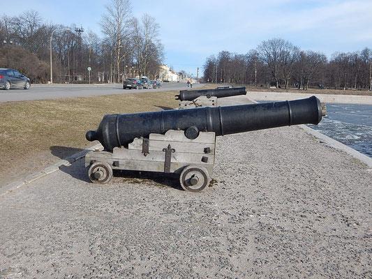 Kanone in Kronstadt