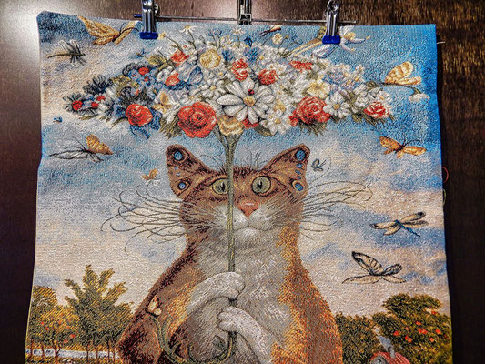Kissen mit Katzenmotiv