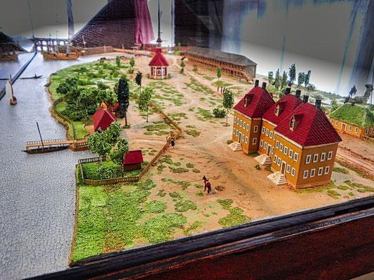 Model vom Haus an der Newa