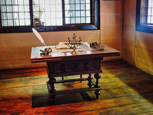 Schreibtisch im Museumshaus