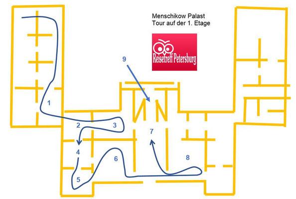 Menschikow Palast Tour durch die 1. Eremitage