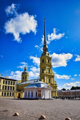 Kathedrale der Peter und Paul Festung St Petersburg Sehenswürdigkeiten auf dem Festungsgelände