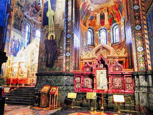 Altar in der Auferstehungskirche auf dem Blute