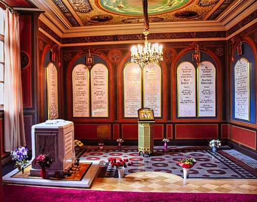 Grabstätte des letzten Zaren in der Peter Paul Kathedrale