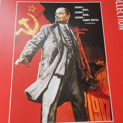 Plakat mit Lenin