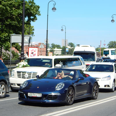 Porsche sind in Sankt Petersburg mehr zu sehen als in Deutschland