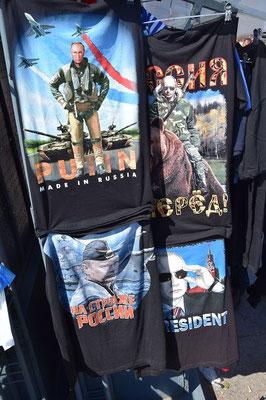 T-Shirts im Straßenverkauf