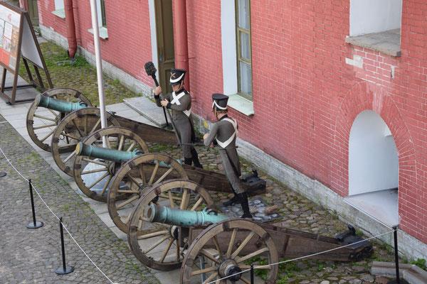 alte Kanonen auf der Peter und Paul Festung