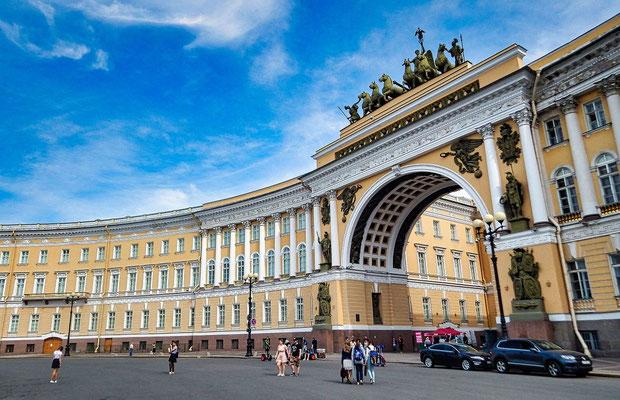 am Palastplatz der Oberbefehlsstab der russischen Flotte