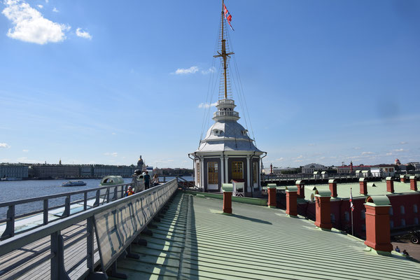 auf dem Dach mit Turm