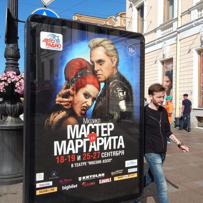 Plakat im Zentrum