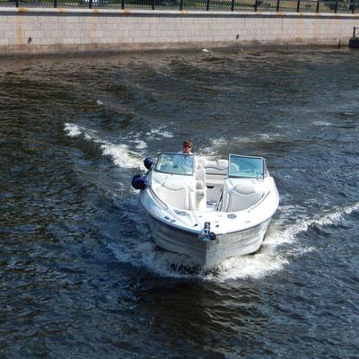 Boot auf der Newa