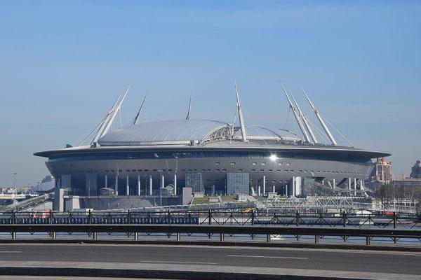das neue Stadion in Sankt Petersburg
