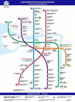 Metro Karte Sankt Petersburg